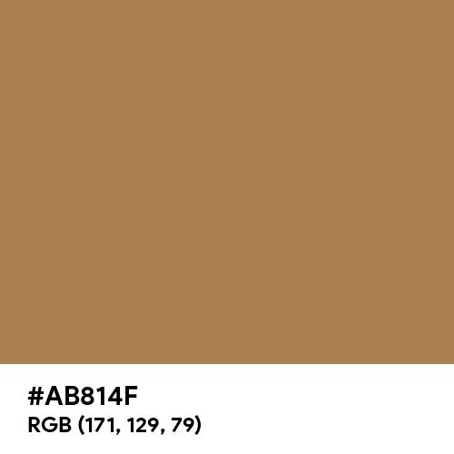 Brown Beige (Hex code: AB814F) Thumbnail