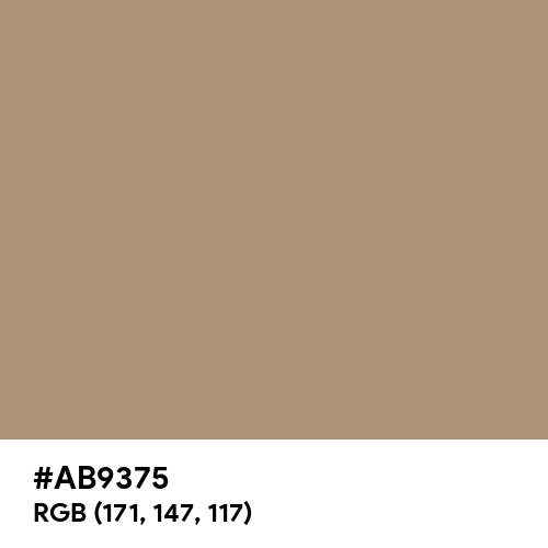 Gentle Brown (Hex code: AB9375) Thumbnail