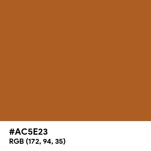 Brown CMYK (Hex code: AC5E23) Thumbnail