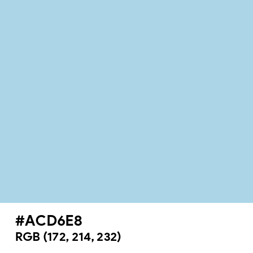 Light Blue (Hex code: ACD6E8) Thumbnail