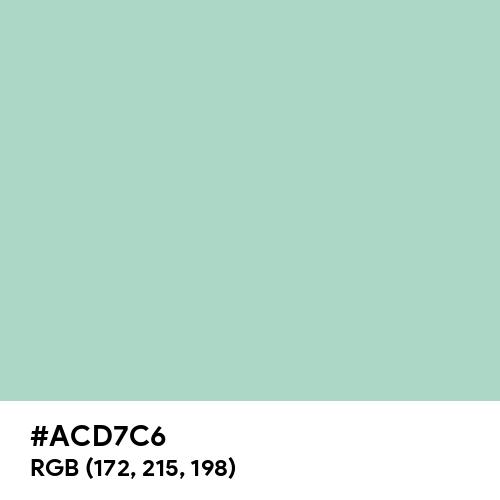 Wintergreen Mint (Hex code: ACD7C6) Thumbnail