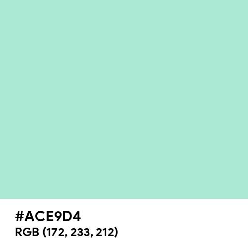 Pale Aquamarine (Hex code: ACE9D4) Thumbnail