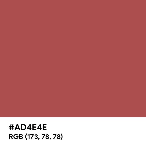 Rose Vale (Hex code: AD4E4E) Thumbnail