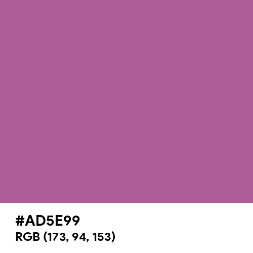Radiant Orchid (Hex code: AD5E99) Thumbnail
