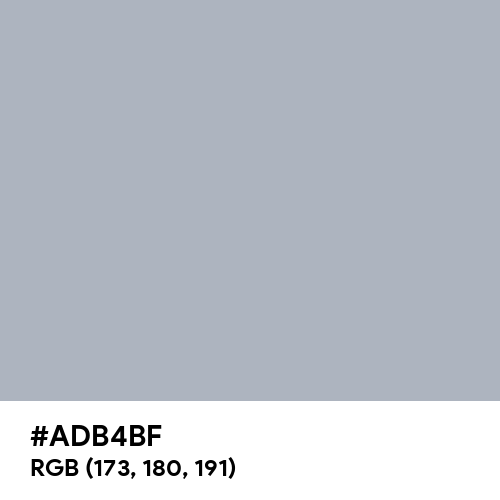 Pewter (Hex code: ADB4BF) Thumbnail