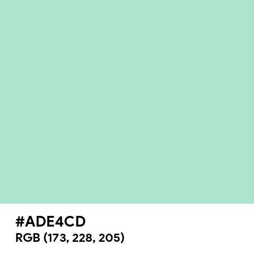 Magic Mint (Hex code: ADE4CD) Thumbnail