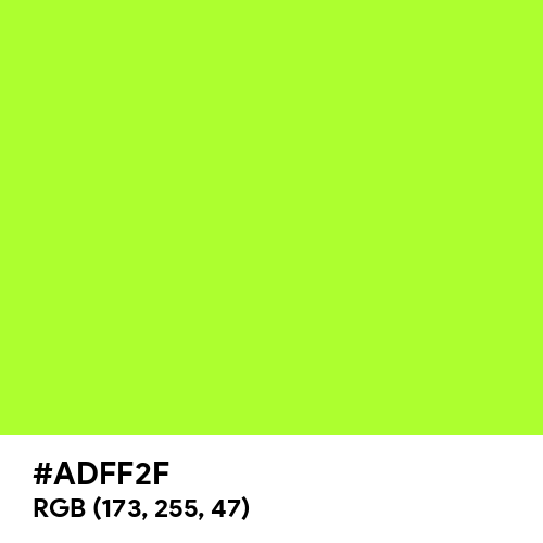 Green Yellow (Hex code: ADFF2F) Thumbnail