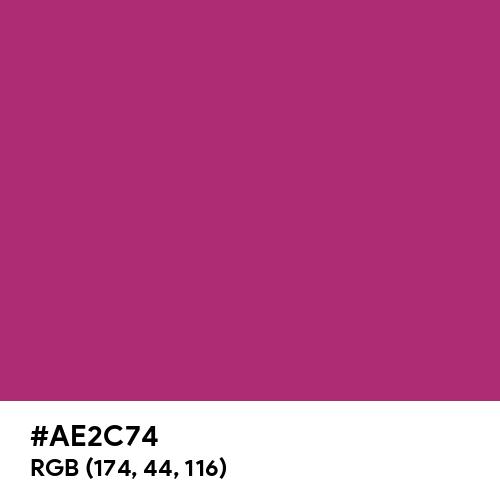 Maximum Red Purple (Hex code: AE2C74) Thumbnail