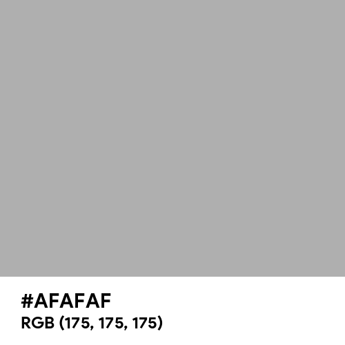 Dark Silver (Hex code: AFAFAF) Thumbnail