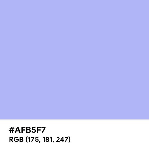 Maximum Blue Purple (Hex code: AFB5F7) Thumbnail