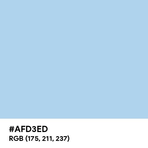 Pale Cornflower Blue (Hex code: AFD3ED) Thumbnail