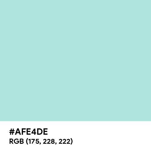 Light Turquoise (Hex code: AFE4DE) Thumbnail