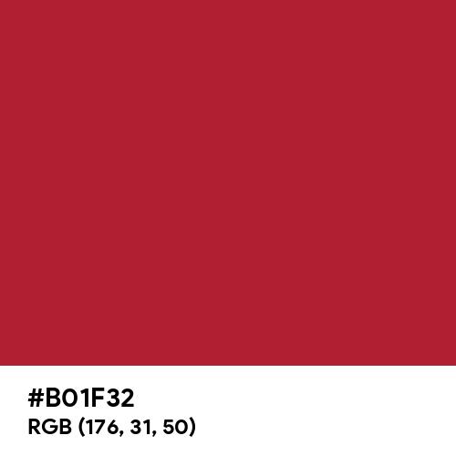 Urban Red (Pantone) (Hex code: B01F32) Thumbnail