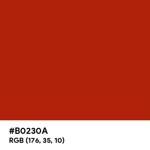 Rufous (Hex code: B0230A) Thumbnail