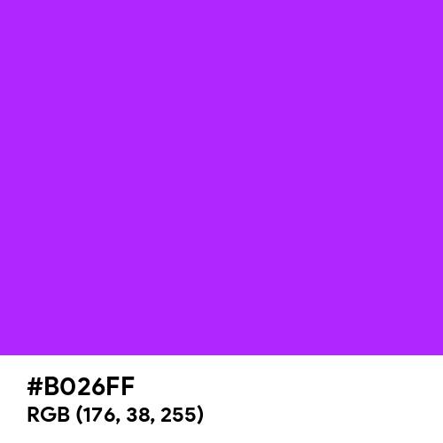 Neon Purple (Hex code: B026FF) Thumbnail
