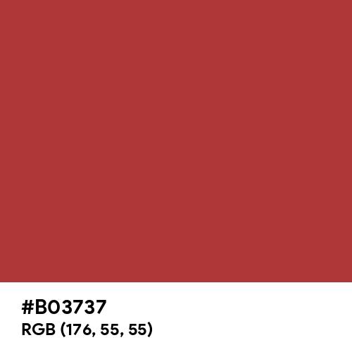Luxury Red (Hex code: B03737) Thumbnail