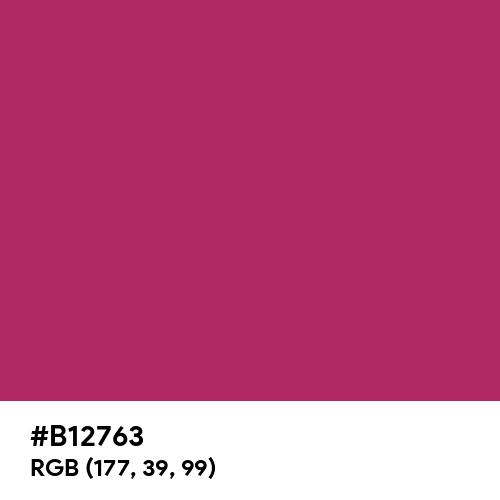 Boudoir Red (Pantone) (Hex code: B12763) Thumbnail