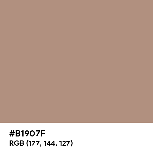 Pale Taupe (Hex code: B1907F) Thumbnail