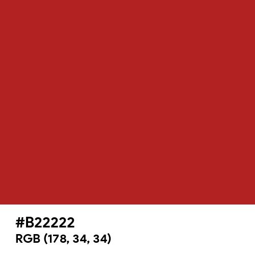 Firebrick (Hex code: B22222) Thumbnail