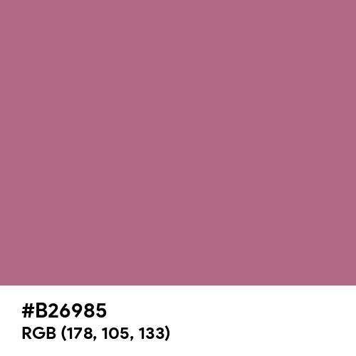 Turkish Rose (Hex code: B26985) Thumbnail