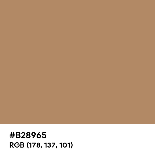 Walnut Brown (Hex code: B28965) Thumbnail