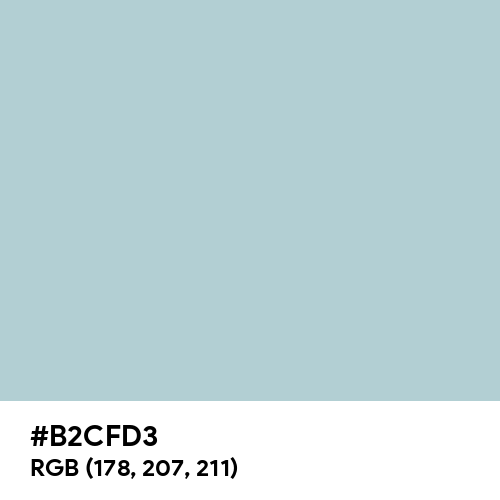 Clinical Soft Blue (Hex code: B2CFD3) Thumbnail