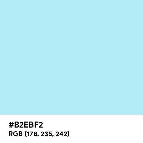 Pale Blue (Hex code: B2EBF2) Thumbnail