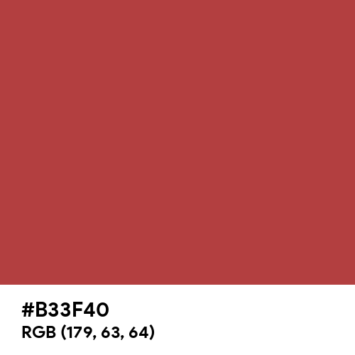 Matte Red (Hex code: B33F40) Thumbnail