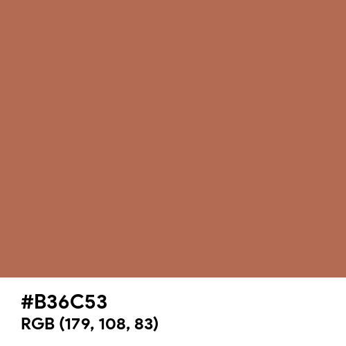 Brown Sugar (Hex code: B36C53) Thumbnail