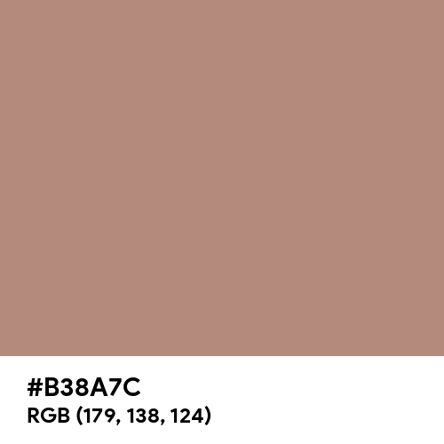 Light Taupe (Hex code: B38A7C) Thumbnail