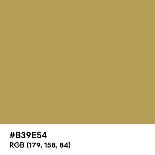 Aztec Gold (Hex code: B39E54) Thumbnail