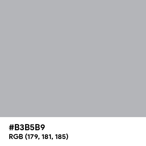 Tech Silver (Hex code: B3B5B9) Thumbnail