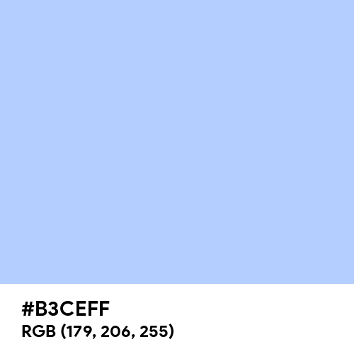 Electricity (Hex code: B3CEFF) Thumbnail