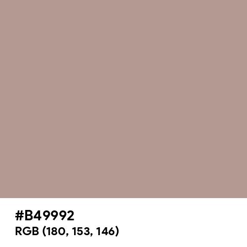 Pale Chocolate (Hex code: B49992) Thumbnail