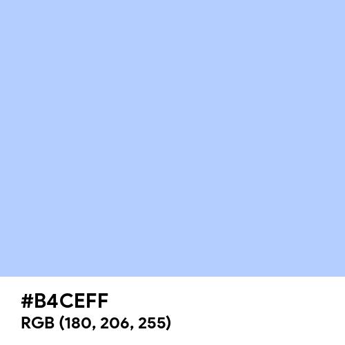 Pale Cornflower Blue (Hex code: B4CEFF) Thumbnail