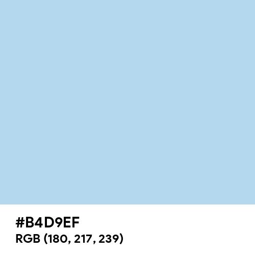 Pastel Sky Blue (Hex code: B4D9EF) Thumbnail