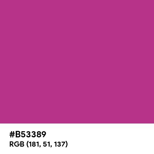 Fandango (Hex code: B53389) Thumbnail