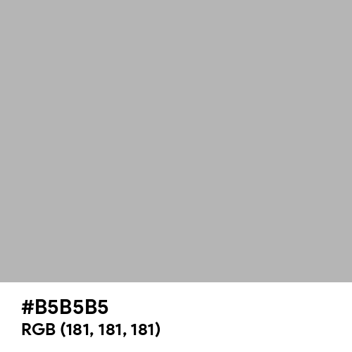Christmas Silver (Hex code: B5B5B5) Thumbnail