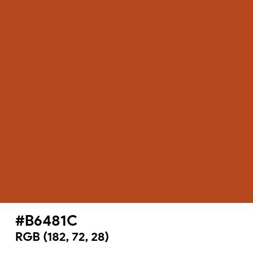Red Orange (RAL) (Hex code: B6481C) Thumbnail