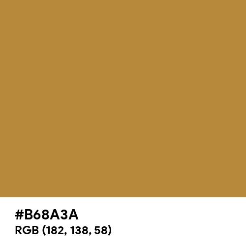 Harvest Gold (Pantone) (Hex code: B68A3A) Thumbnail