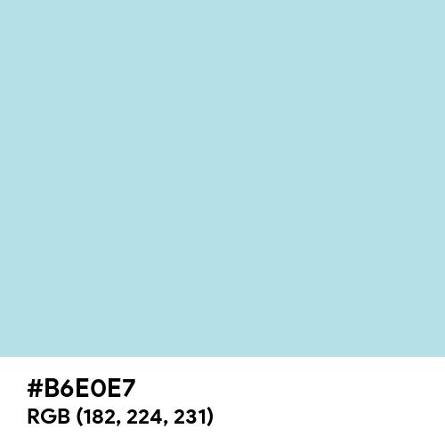 Powder Blue (Hex code: B6E0E7) Thumbnail