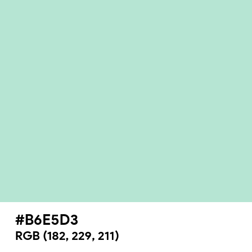Magic Mint (Hex code: B6E5D3) Thumbnail