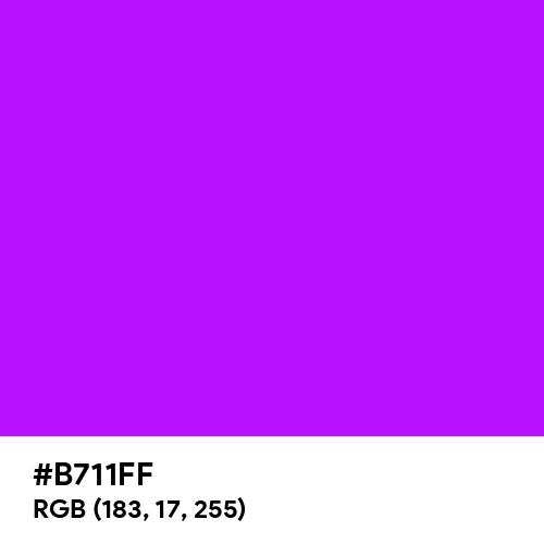 Bright Violet (Hex code: B711FF) Thumbnail