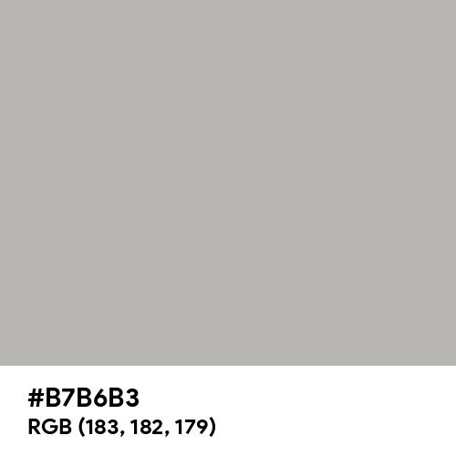 Philippine Silver (Hex code: B7B6B3) Thumbnail