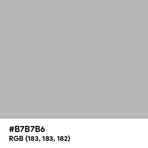 Philippine Silver (Hex code: B7B7B6) Thumbnail