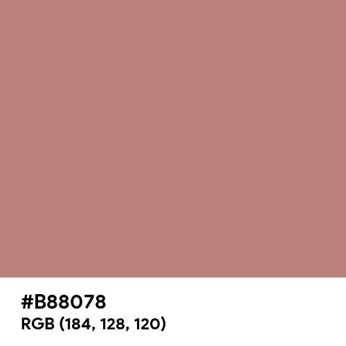 Rose Gold CMYK (Hex code: B88078) Thumbnail