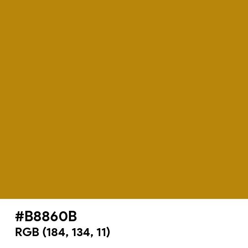 Dark Goldenrod (Hex code: B8860B) Thumbnail