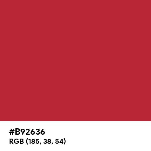 Ribbon Red (Pantone) (Hex code: B92636) Thumbnail