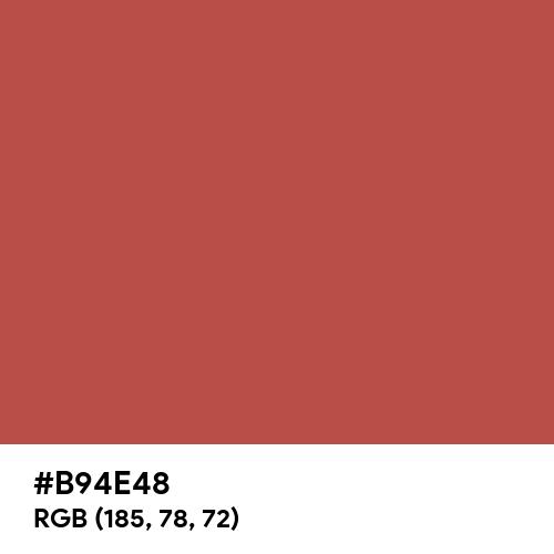 Chestnut (Crayola) (Hex code: B94E48) Thumbnail