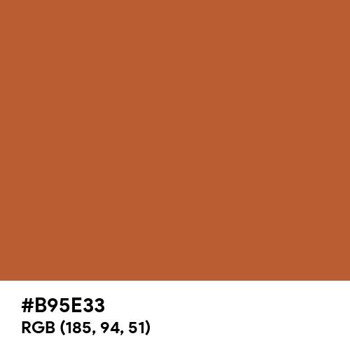 Gold Varnish Brown (Hex code: B95E33) Thumbnail